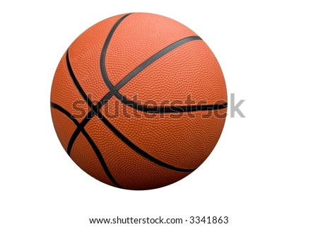 Basketball isolated over a white background with a clipping path - stock photo