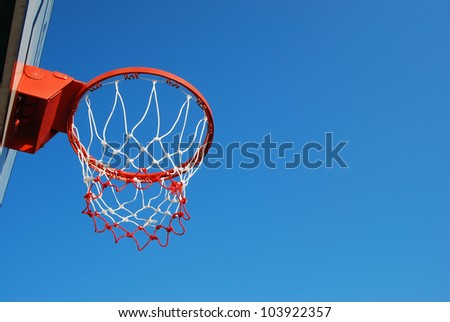 basketball outdoor court sport game blue sky for background design