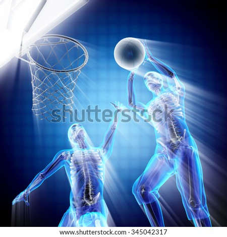 basketball player bones radiography