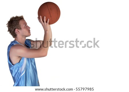 Basketball player trying to throw his ball away