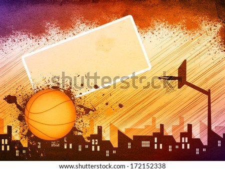 Basketball sport poster or flyer background with space - stock photo