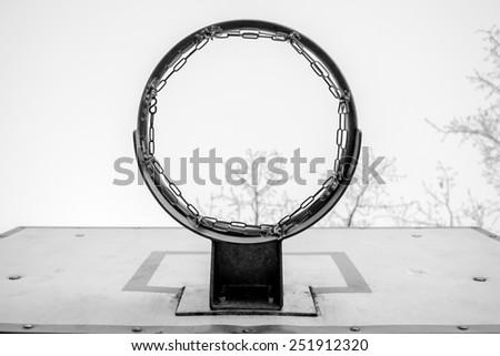 Basketball streetball ring - stock photo