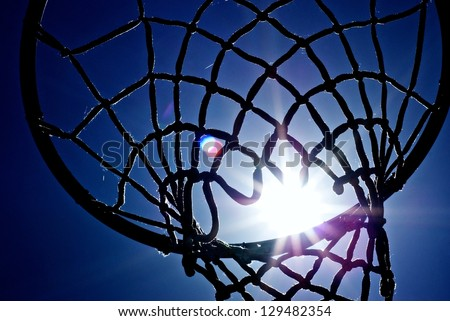 Basketball sun - stock photo