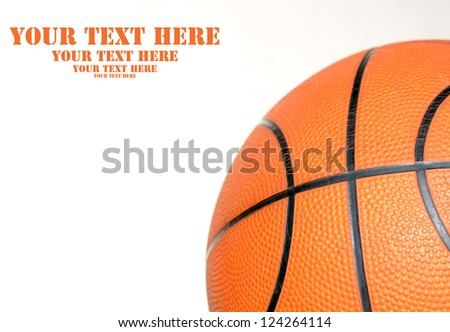 Basketball with space for text - stock photo