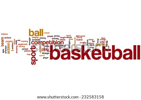 Basketball word cloud concept - stock photo