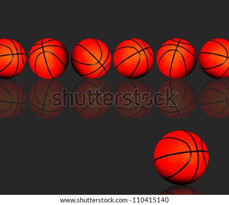 Basketballs, with room for your type. - stock photo
