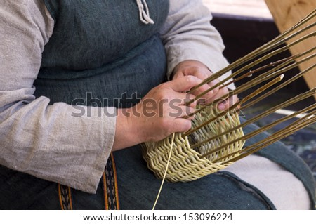 basketry craft - stock photo