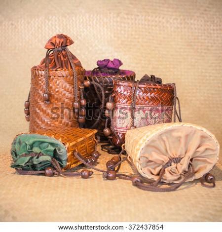 Basketry pocket - stock photo