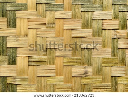 basketwork from bamboo for background