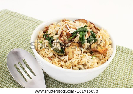 Basmati rice pilaf - stock photo