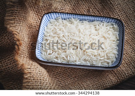 basmati white rice - stock photo