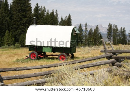 Basque sheepherder's wagon - stock photo