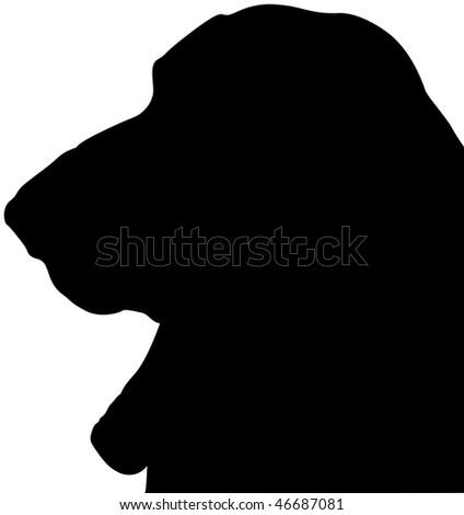 Basset Hound silhouette - stock photo