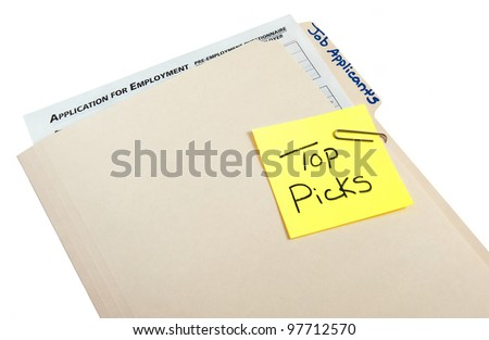 Bast match work applicant for job opening - stock photo