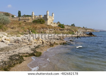 Bastion Yenikale fortress on the shore of the Black Sea. Kerch. Crimea