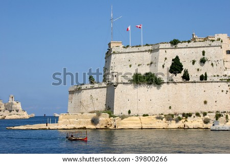 Bastions of Fort St. Angelo and Grand Harbour, Malta