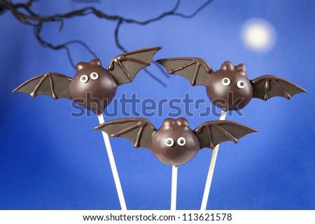Bat cake pops - stock photo