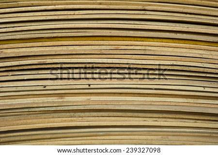 Batch of plywood  - stock photo