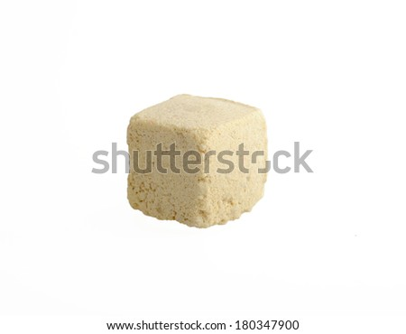 Bath bombs on white backgrounds - stock photo