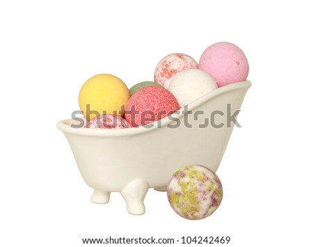 Bath Bombs. With clipping path