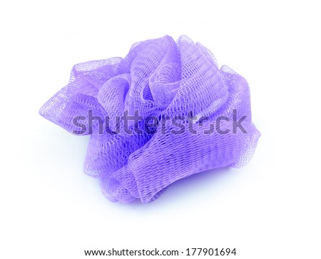 Bath cloth isolated on white background - stock photo