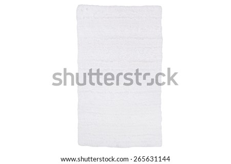 Bath mat isolated on white studio background - stock photo