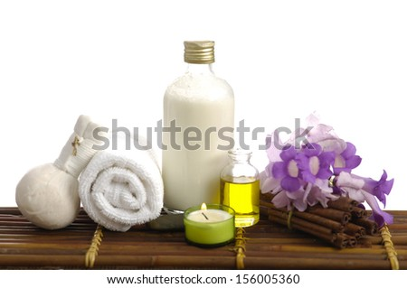 bath relaxation and body treatment on mat