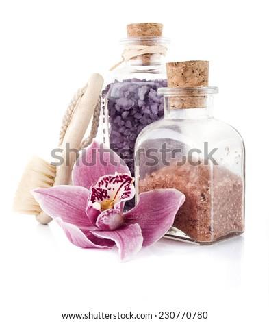Bath salt - stock photo