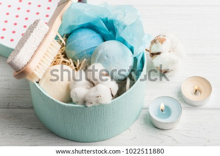 Bath Spa Accessories On Rustic Wooden Stock Photo 1022511880 ...