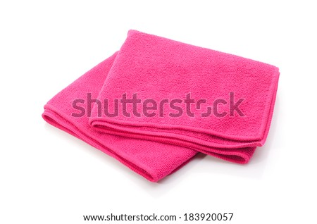 Bath towel isolated on white.