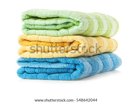 Bath towel isolated on white