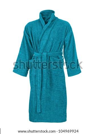 bathrobe isolated on white background - stock photo