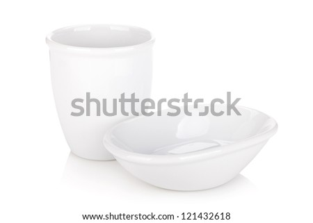 Bathroom accessories. Isolated on white background