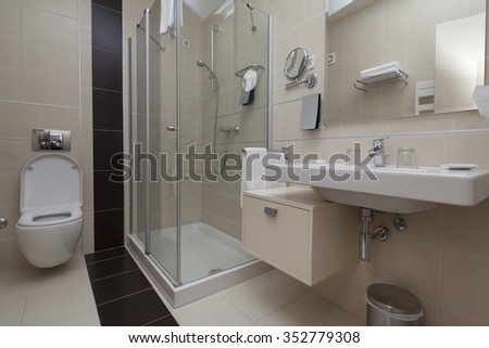 bathroom apartment interior - stock photo