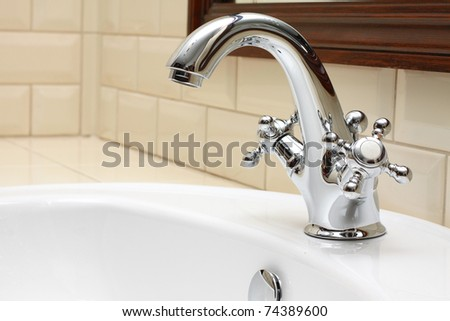 Bathroom close-up - sink and faucet