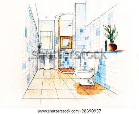 Pencil Sketch Of A Room Stock Images Royalty Free Images