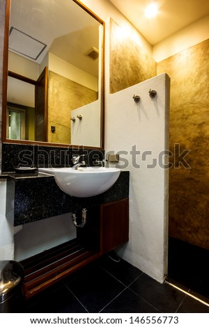 bathroom decoration of a boutique hotel