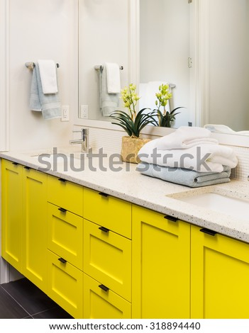 Vanity stock photos royalty free images vectors for Bathroom cabinet yellow