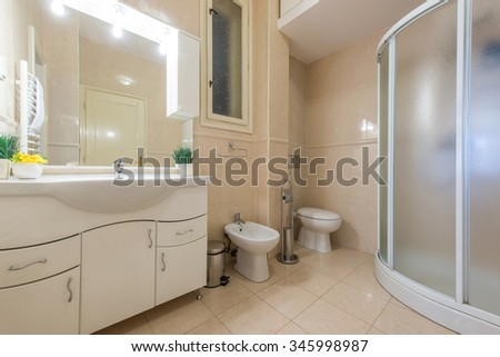 Bathroom in contemporary apartment interior