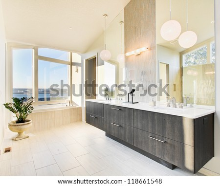 Bathroom in Luxury Home - stock photo