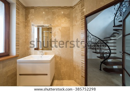 Bathroom in modern house.