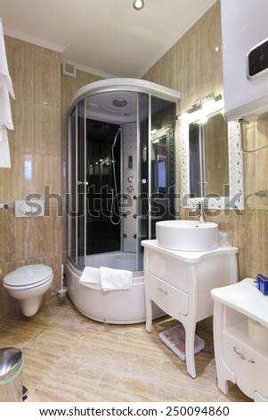 Bathroom interior - stock photo
