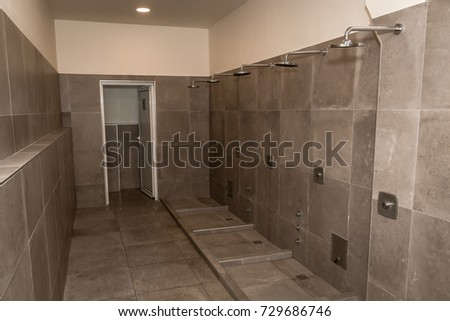 Bathroom Interior Shower Cabin Showers Stock Photo (100% Legal ...