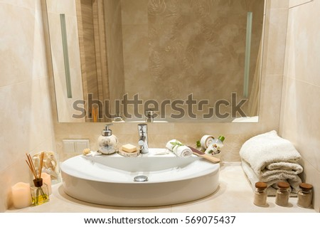 Romantic Bathroom Stock Images RoyaltyFree Images Vectors