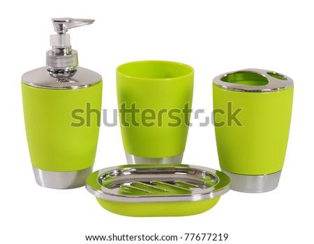 Bathroom objects. Isolated - stock photo