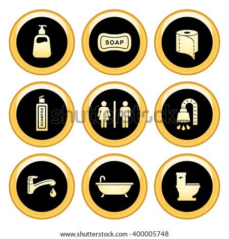 Bathroom Or Restroom male female restroom symbol icon stock vector 151453883 - shutterstock