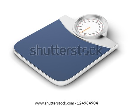 Bathroom scale isolated on a white background
