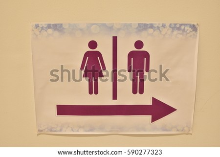 bathroom sign male female. Bathroom Sign Stock Images  Royalty Free Images   Vectors