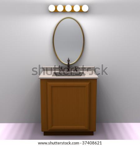 Bathroom Vanity - stock photo