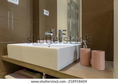 Bathroom washbasin - stock photo